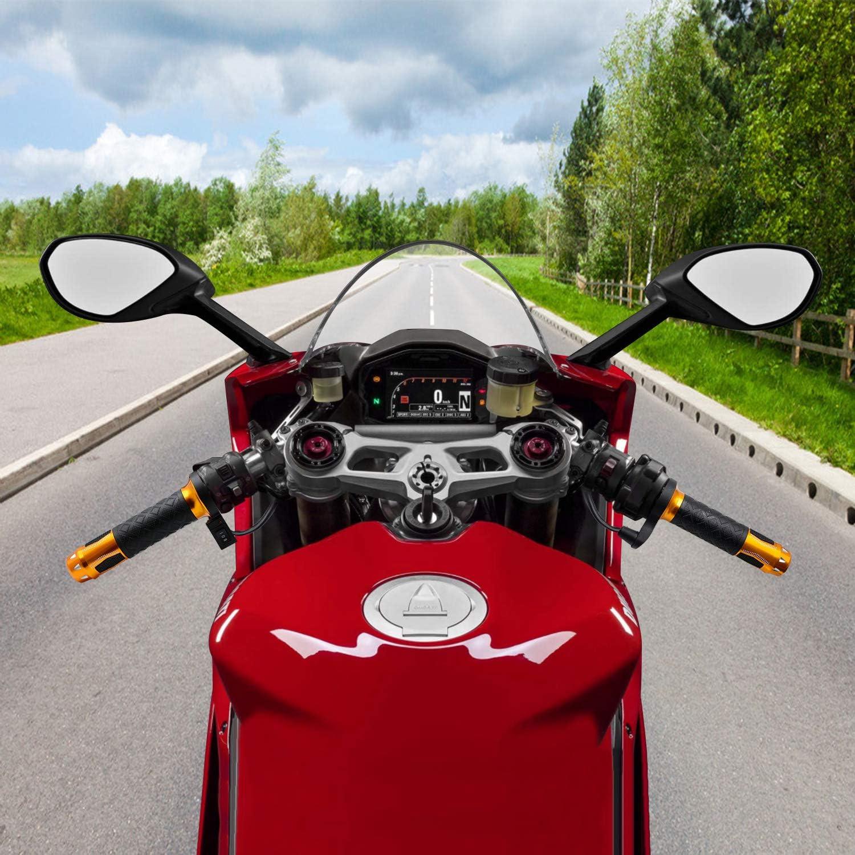 WANYIG 1 Paar Universal Griffheizung Motorrad 22mm Aluminum Alloy Motorrad Elektrischer Griff Heizgriffe Lenkergriffe Lenkergriffe Motorrad W/ärme 12V