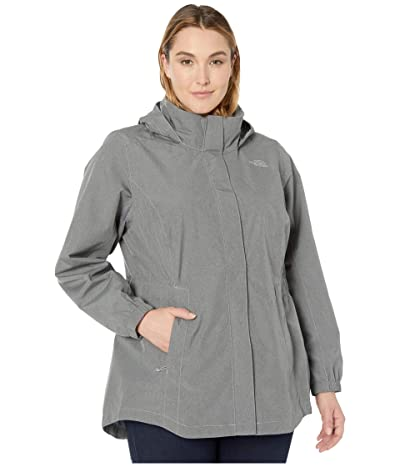 The North Face Plus Size Resolve Parka II (TNF Medium Grey Heather) Women
