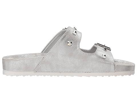 Slide Quinn ShimmerWhite Sandal Silver Dirty Leopard Shimmer ShimmerTan PonTan Laundry wxPB5EqER