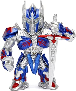 """Metalfigs 99386 Transformers- The Last Knight Optimus Prime (M407) Metals Die-Cast Collectible Toy Figure, 4"""", Multicolor"""