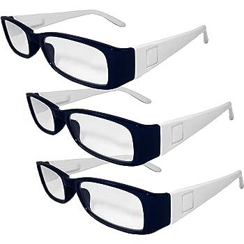 NFL Denver Broncos Team Colored Reading Glasses Power 3 Pack 2.00