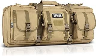 Savior Equipment American Classic Tactical Double Short Barrel Rifle Gun Case Firearm Bag - Suitable for Subgun Bullpups Carbine Shotgun SMG SBR AR AK Pistol, Available Length in 24
