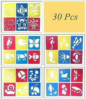 Lirener 30 Piezas Bullet Journal Stencil Set, plástico Dibujo Pintura Stencil Escala gráficos Plantilla para