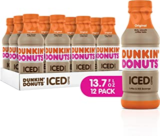 Dunkin Donuts Iced Coffee, Original, 13.7 Fluid Ounce (Pack of 12)