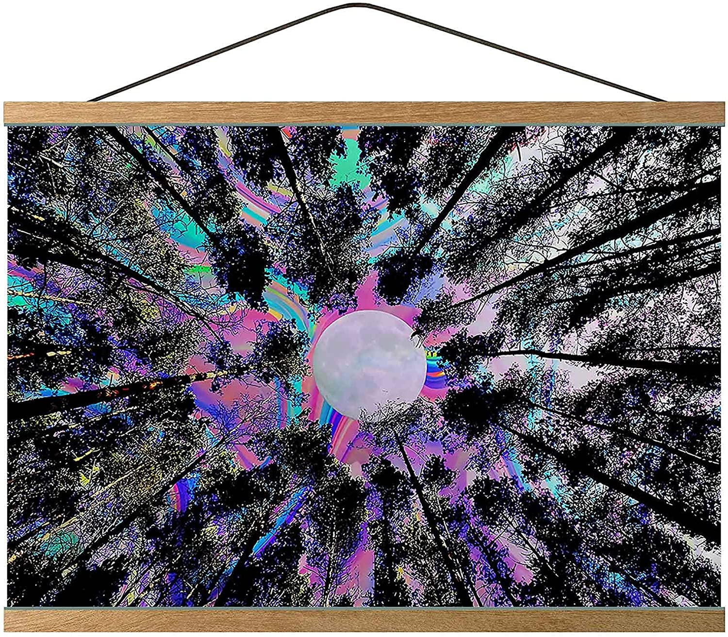 Trippy Canvas Prints Wall Hanging Colorf Ranking TOP16 Today's only Tree Forest Psychedelic