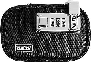 VaporVaultz Locking Mini Plush Pouch, 1 x 5.5 x 3.5 Inches, Black (VZ00659)