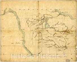 Historic 1790 Map - [North America from The Mississippi River to The Pacific, Between The 35th and 60th parallers of Latitude 44in x 35in