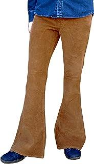 Flares Bell Bottoms Pantaloni in velluto a coste Hippy mod Indie Jeans Retro Svasato Pantaloni Marrone