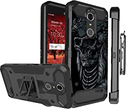 Untouchble Case for ZTE Grand X4, ZTE Blade Spark Cover - Triple Protection Holster Belt Clip Holder Case with Kickstand TANK SERIES - Wolf Warrior