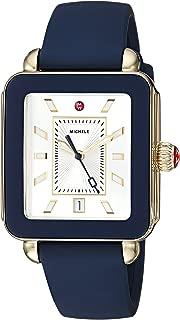 Michele Women's Deco Sport Navy Silicone Watch
