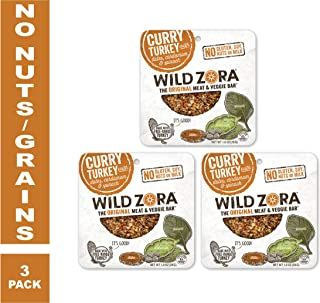 Wild Zora - Curry Turkey - Meat and Veggie Bars (3-pack)