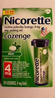 Nicorette Lozenge Stop Smoking Aid 4mg Mint - 24 CT