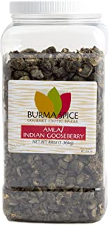Dried Amla (Indian Gooseberries) | 100% Pure and Kosher Certified | High content of Vitamin C (48 oz.)