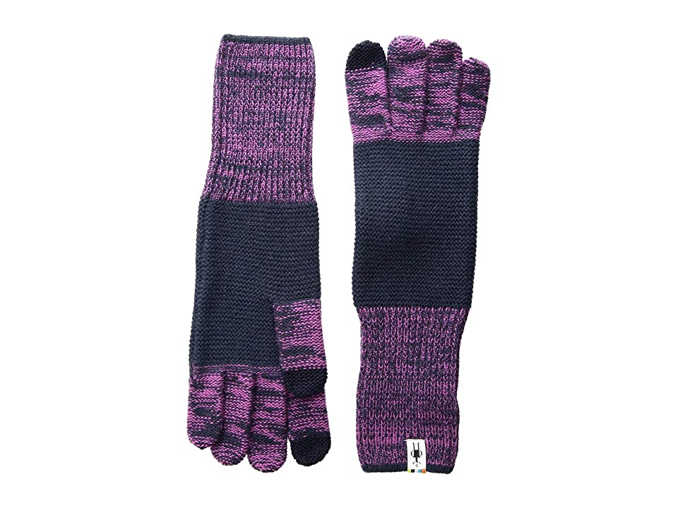 Smartwool Winter Valley Stripe Gloves (Deep Navy/Meadow Mauve Heather) Extreme Cold Weather Gloves