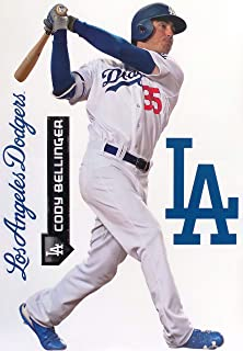 Cody Bellinger FATHEAD TEAMTATE Los Angeles Dodgers Logo Set Official MLB Removable and Re-Usable Vinyl Wall Graphics 17