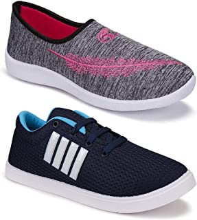 Shoefly Women's (5046-9237) Multicolor Casual Sports Running Shoes (Set of 2 Pair)