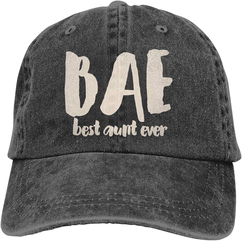 Denim Cap BAE Best Aunt Ever Baseball Dad Cap Classic Adjustable Casual Sports Novel for Men Women Hats