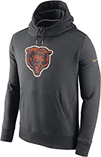 Men's Chicago Bears Charcoal Championship Drive Gold Collection Hybrid Fleece Performance Hoodie