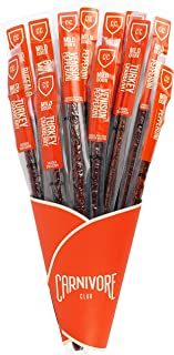 Salami Stick Bouquet - Includes 12 Delicious Exotic Meat Sticks in 4 Flavours - Salami Lover Gift - Jerky Lover Gift - Fun...