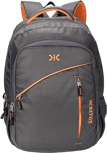 Killer 400171410030 38-Litre Waterproof Backpack (Gray) (13 x 18.75 x 9.5 in)