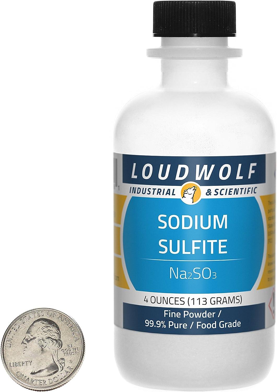Loudwolf Sodium Sulfite Fine Powder Large-scale sale Special Campaign Food 4 Ounces 99.9% Pure