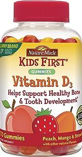 Nature Made?自然做了 - 孩子們首先維生素D3桃子,芒果和草莓 - 110粒