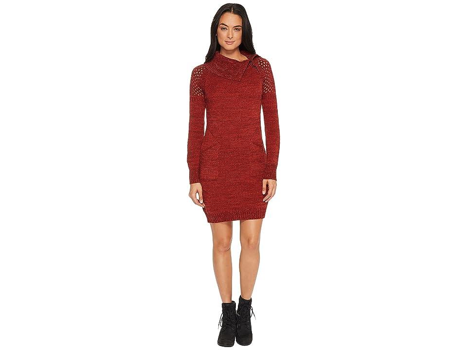 Prana Archer Dress (Red Umber) Women