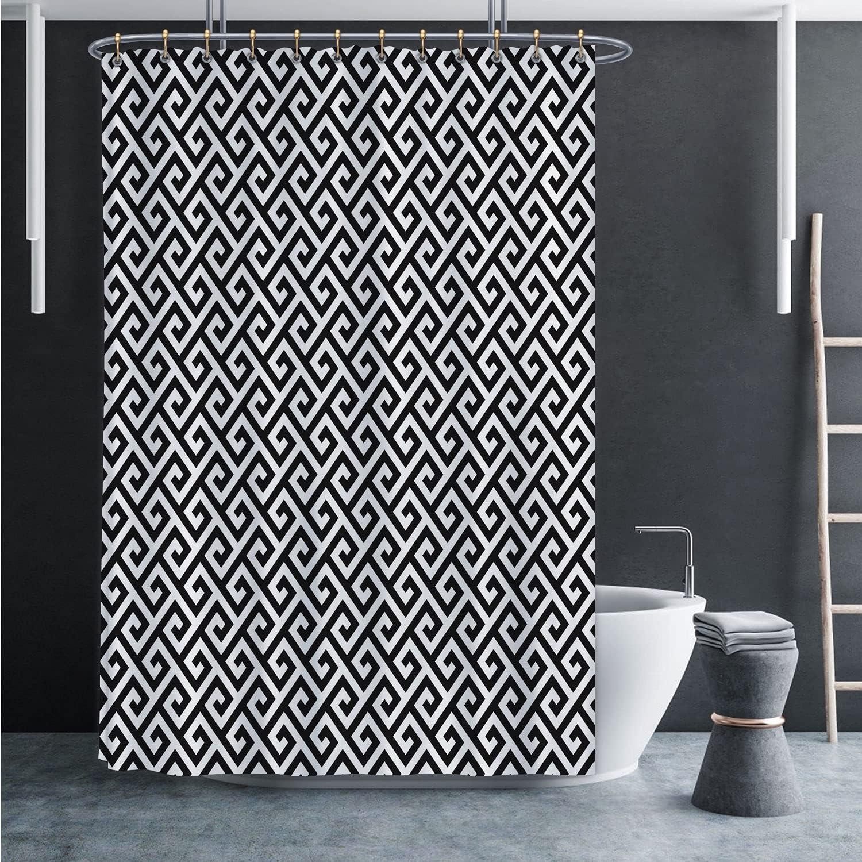 Black and White Classic Meander Branded goods .Greek Monochrome Tileable L OFFer Key