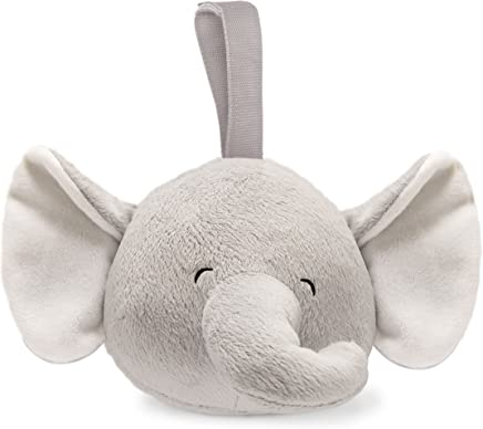 Carter's Plush Infant Soother with White Noise Elephant, Grey/White