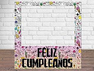 Photocall Feliz Cumpleaños Eventos o Celebraciones puntuales | Medidas 1,00 m x 1,00
