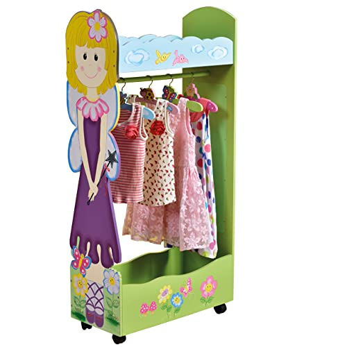 65d4489e836e Liberty House Toys Fairy Dress Up Storage Centre with Hangers, Wood,  Various Pinks