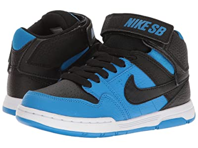 Nike Kids Mogan Mid 2 Jr (Little Kid/Big Kid) (Black/Photo Blue) Boys Shoes