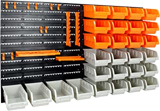 Pannello portautensili con mensola contenitore ganci accessori officina 321