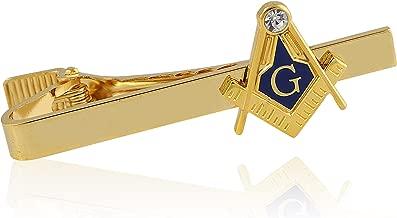 Compass and Square Gold Toned Masonic/Freemasonry Tie Clip