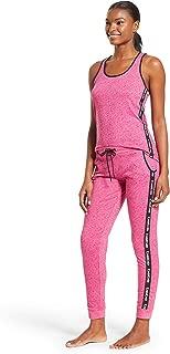 Womens Racerback Tank Top and Skinny Pajama Pants Lounge Sleepwear Set