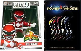 Red Mighty Morphin Power Rangers Movie DVD & Big Metal Figure with Sword Bundle