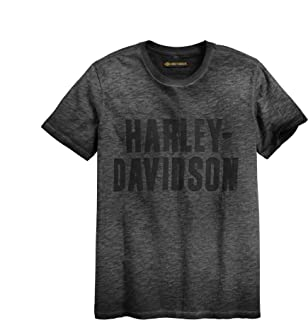 HARLEY-DAVIDSON Men's Jersey Applique Logo Slim Fit Tee, Black