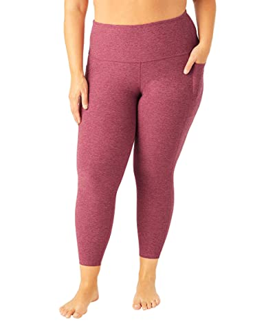 Beyond Yoga Plus Size Out Of Pocket High Waisted Spacedye Midi Leggings (Desert Berry Blush Blooms) Women