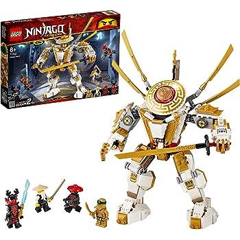 LEGO Ninjago Mech Dorato con Katana e 4 Minifigure: Lloyd, Wu e Generale Kozu, Set di Costruzioni Ricco di Dettagli per Ragazzi +8 Anni, 71702