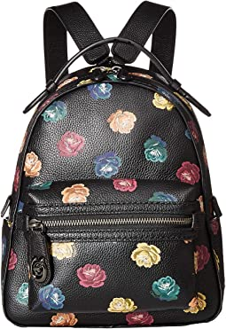 Campus Backpack 23 in Floral Printed Leather