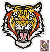 MUNAN sew on Patches Tiger Patches Iron On Sewing Embroidered Patches Badge Applique for Clothes Jacket Jeans Cap