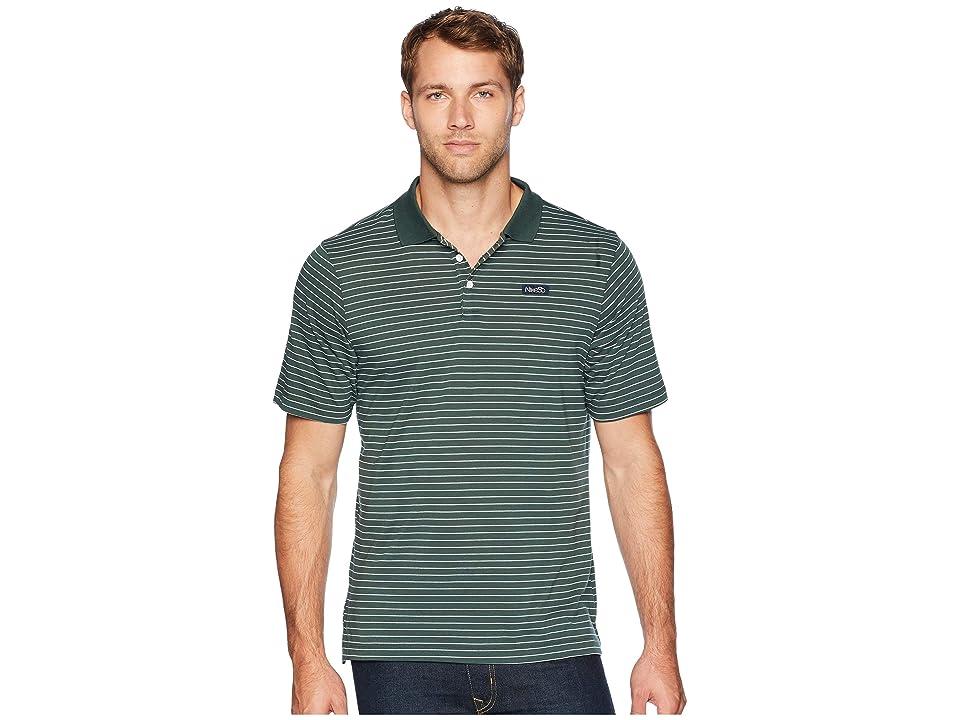 Nike SB SB Dry Short Sleeve Stripe Polo (Midnight Green/Obsidian) Men