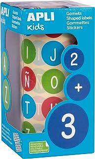 comprar comparacion APLI Kids 15126 - Rollo gomets abecedario mayúsculas Ø 20 mm