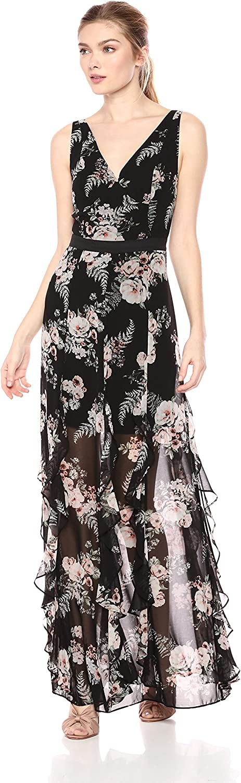 BCBGeneration Womens Cascade Ruffle Maxi Dress Special Occasion Dress