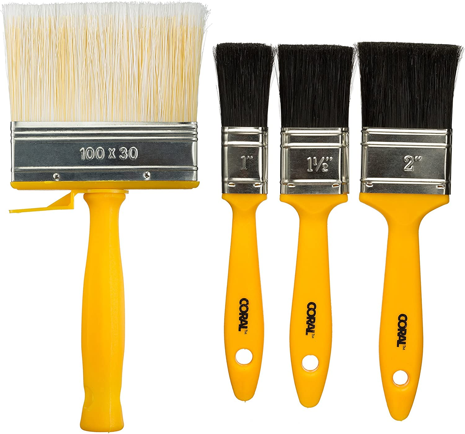 Coral 31310 Paint Set with Directly managed store Block Brush S Yellow 4 Long-awaited pcs Piece
