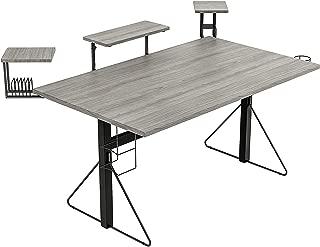 Jamesdar Carnegie Computer Gaming Desk XL, Black/Gray