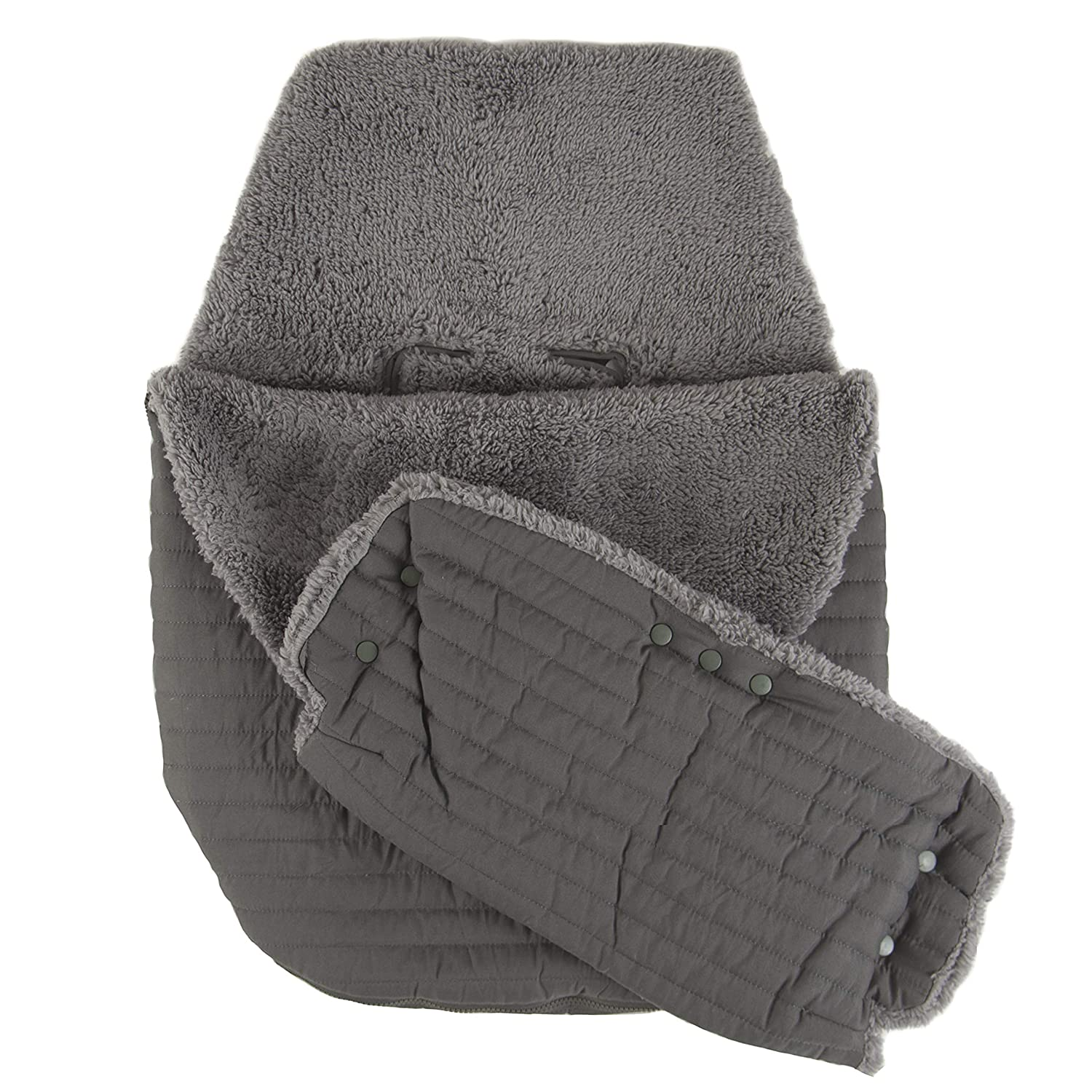 Tadpoles Quilted Stroller & Car Seat Cover withHand Mitt, Dark Grey