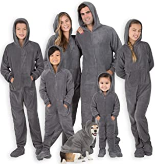 Family Matching Shadow Gray Hoodie Onesies for Boys, Girls, Men, Women and Pets