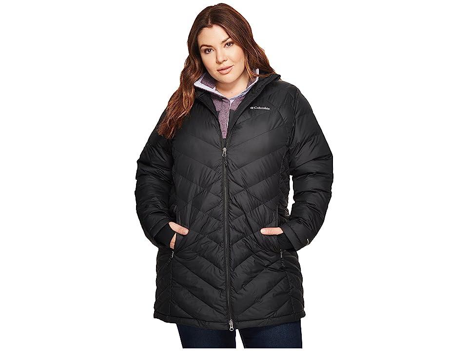 Columbia Plus Size Heavenly Long Hooded Jacket (Black) Women