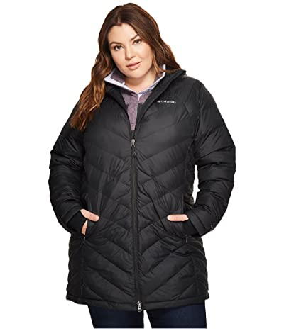 Columbia Plus Size Heavenly Long Hooded Jacket (Black) Women
